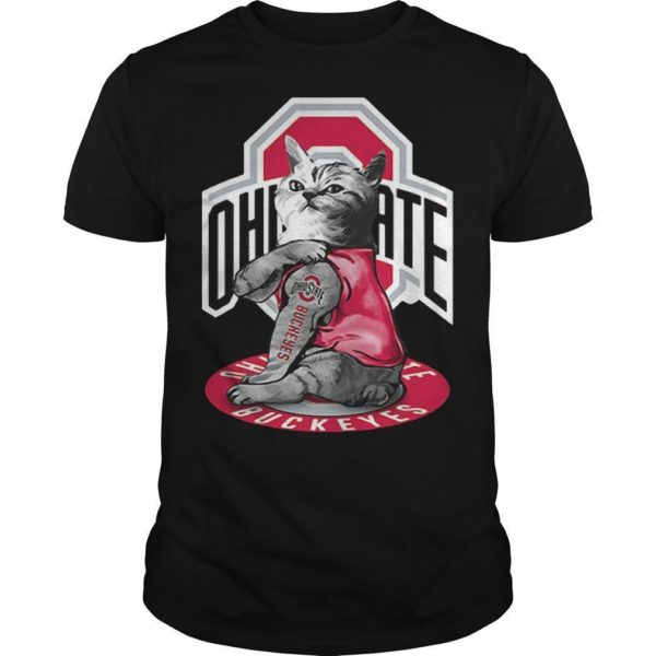 Cat Tattoos Ohio State Buckeyes Shirt