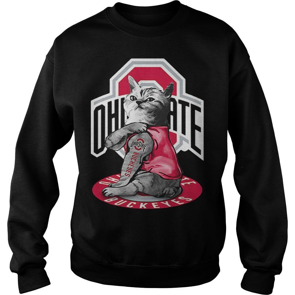 Cat Tattoos Ohio State Buckeyes Sweater