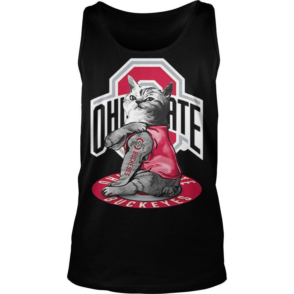 Cat Tattoos Ohio State Buckeyes Tank Top