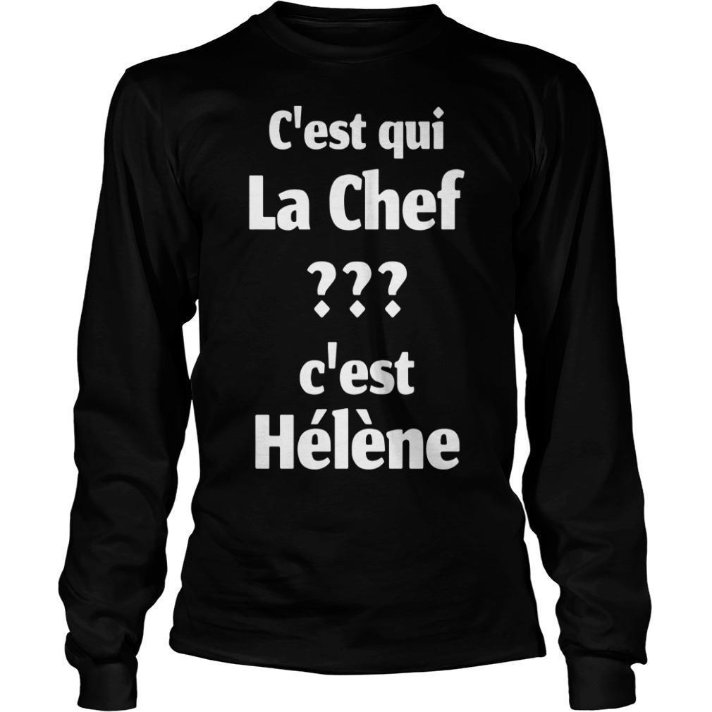 C'est Qui La Chef C'est Hélène Longsleeve