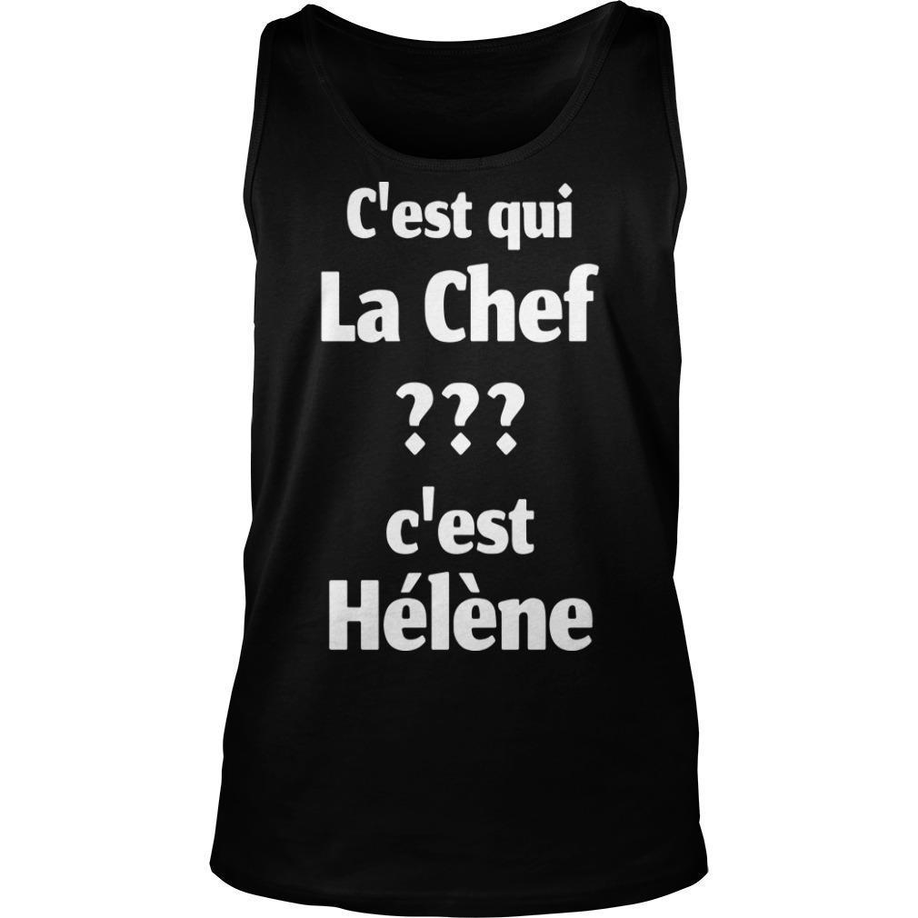 C'est Qui La Chef C'est Hélène Tank Top