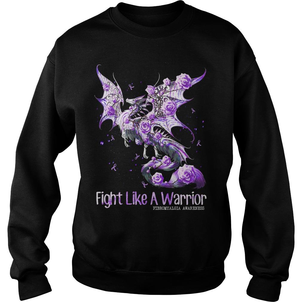 Dragon Fight Like A Warrior Fibromyalgia Awareness Sweater