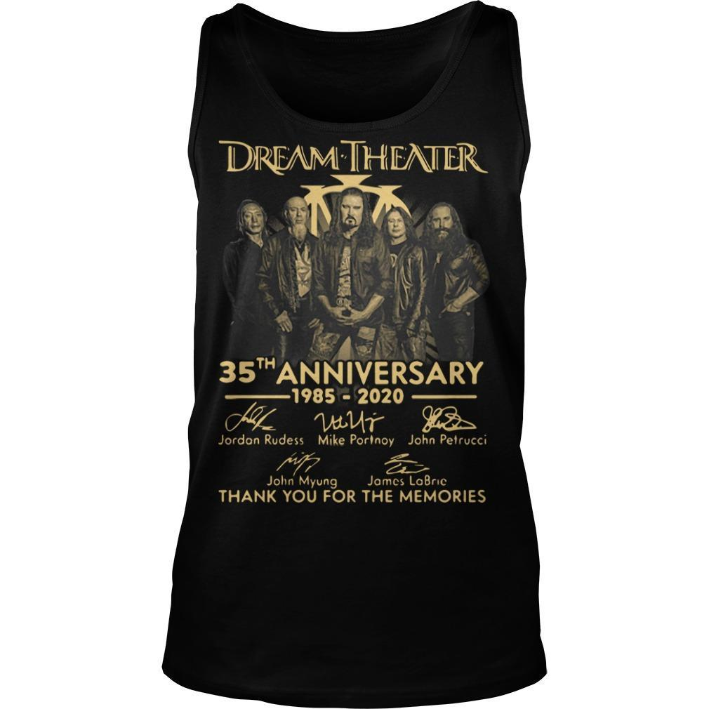 Dream Theater 35th Anniversary Thank You For The Memories Tank Top