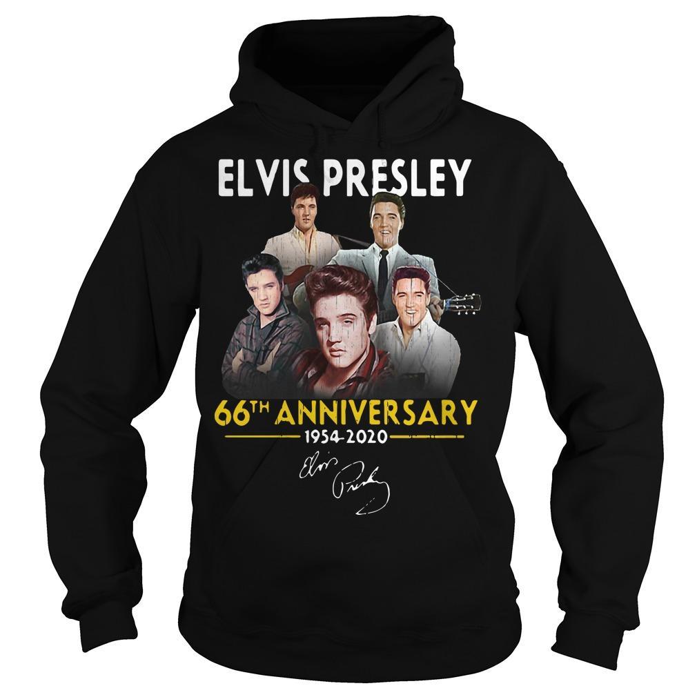 Elvis Presley 66th Anniversary 1975 2020 Signatures Hoodie