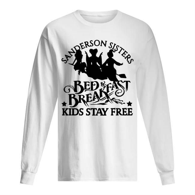 Hocus Pocus Sanderson Sisters Bed Breakfast Kids Stay Free Longsleeve