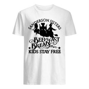 Hocus Pocus Sanderson Sisters Bed Breakfast Kids Stay Free Shirt