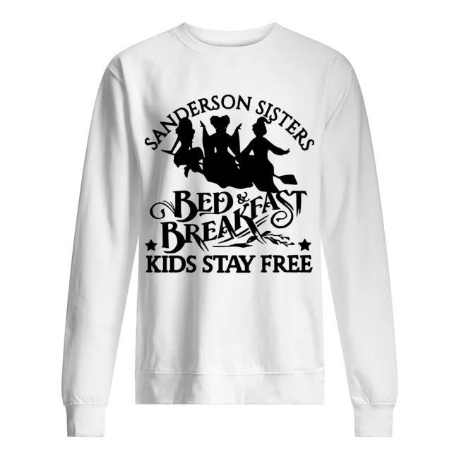 Hocus Pocus Sanderson Sisters Bed Breakfast Kids Stay Free Sweater