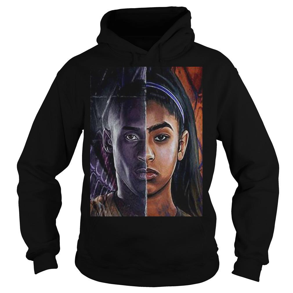 Kobe Bryant And Daughter Face shirt Hoodie