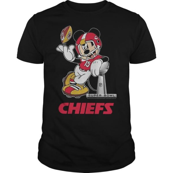 Mickey Super Bowl Liv Chiefs Shirt