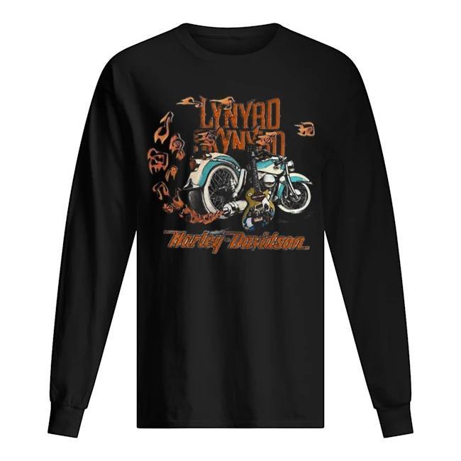 Motorcycle Guitar Lynyrd Skynyrd Harley Davidson Longsleeve