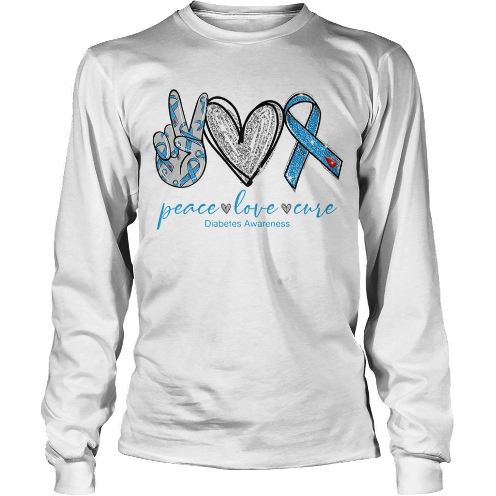 Peace Love And Cure Diabetes Awareness Longsleeve