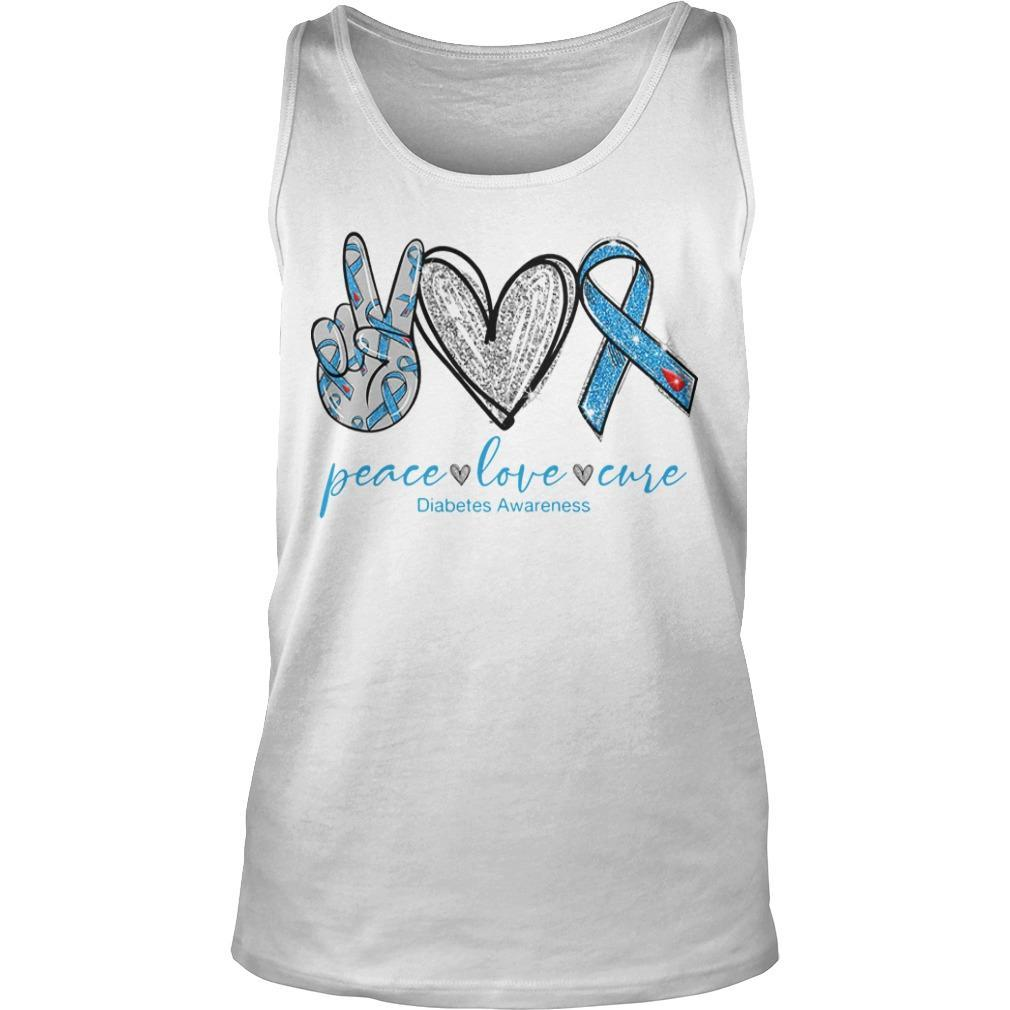 Peace Love And Cure Diabetes Awareness Tank Top