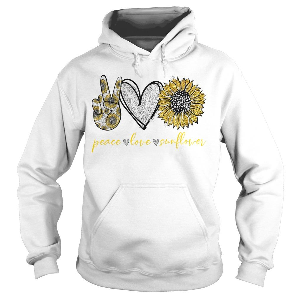 Peace Love And Sunflower Hoodie