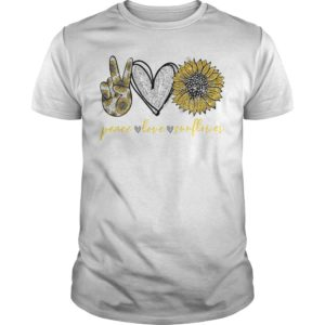 Peace Love And Sunflower Shirt