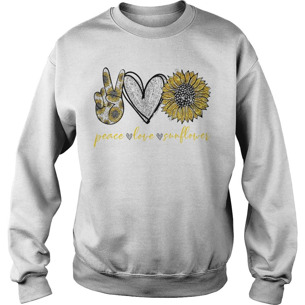 Peace Love And Sunflower Sweater