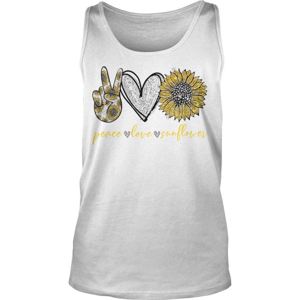 Peace Love And Sunflower Tank Top