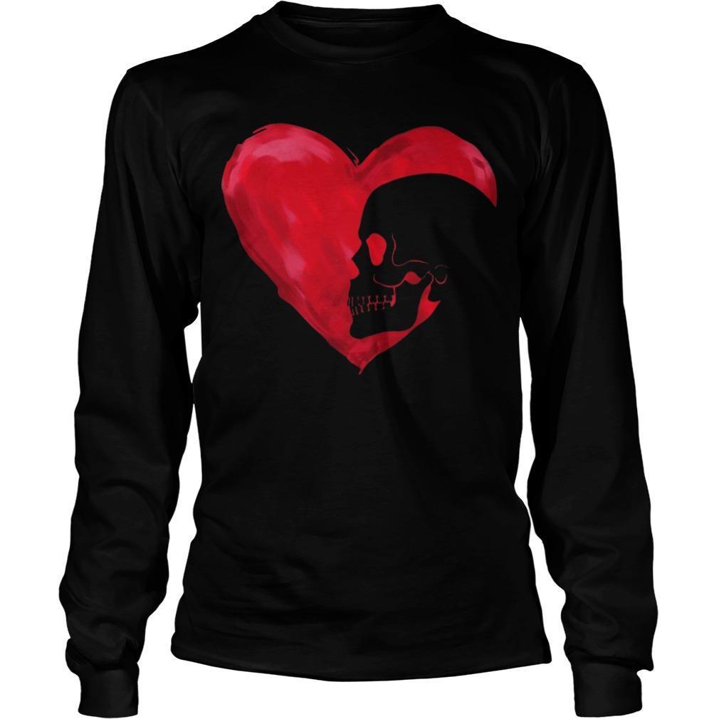 Skull Red Heart Longsleeve