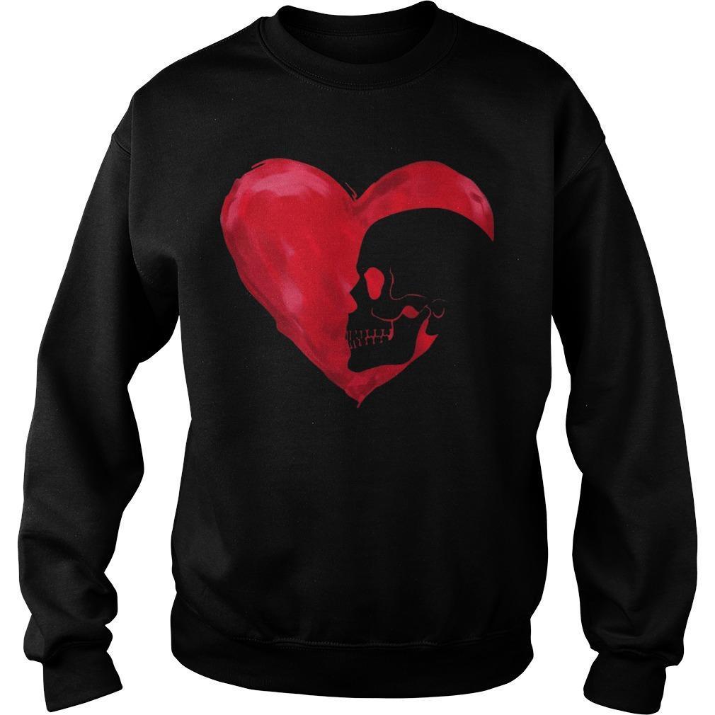Skull Red Heart Sweater