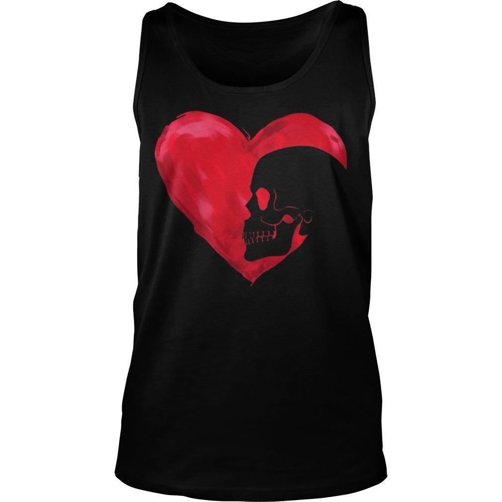 Skull Red Heart Tank Top