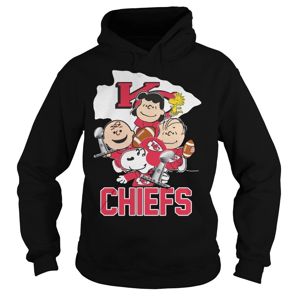 Snoopy And Charlie Peanuts Kansas City Chiefs Hoodie