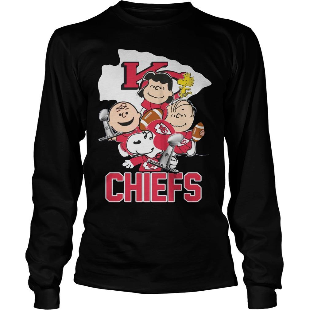 Snoopy And Charlie Peanuts Kansas City Chiefs Longsleeve