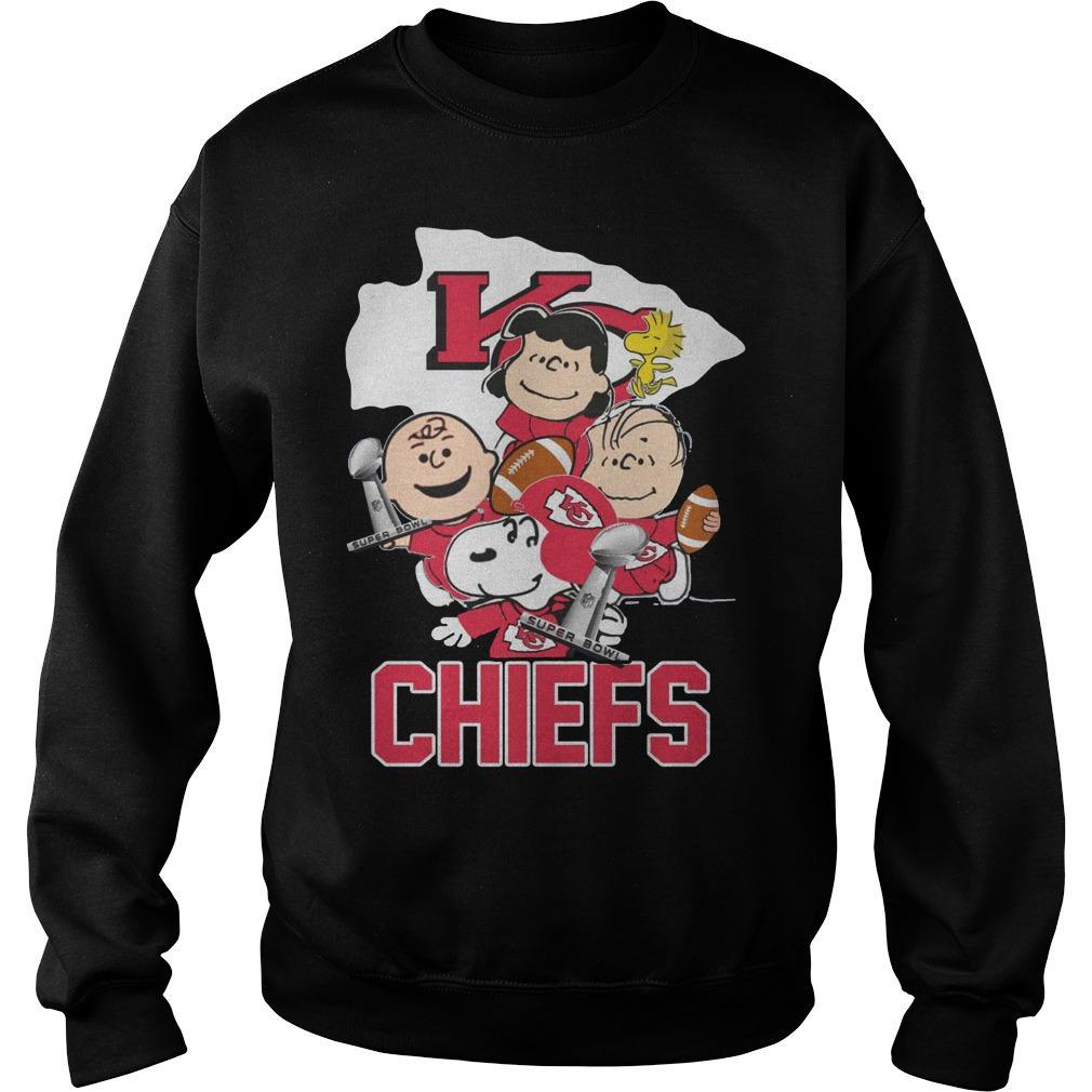 Snoopy And Charlie Peanuts Kansas City Chiefs Sweater