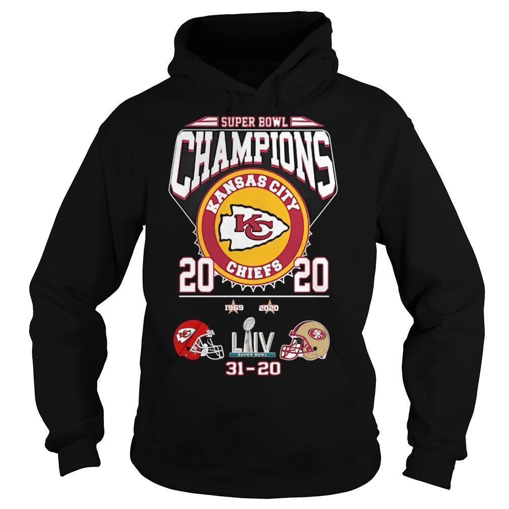 Super Bowl Champions Kansas City Chiefs 2020 31 20 Sf Hoodie