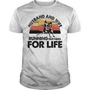 Vintage Husband And Wife Running Partners For Life Shirt