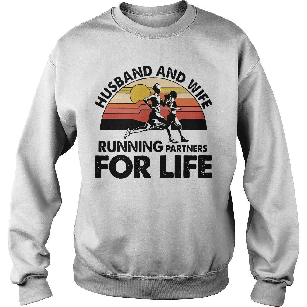 Vintage Husband And Wife Running Partners For Life Sweater