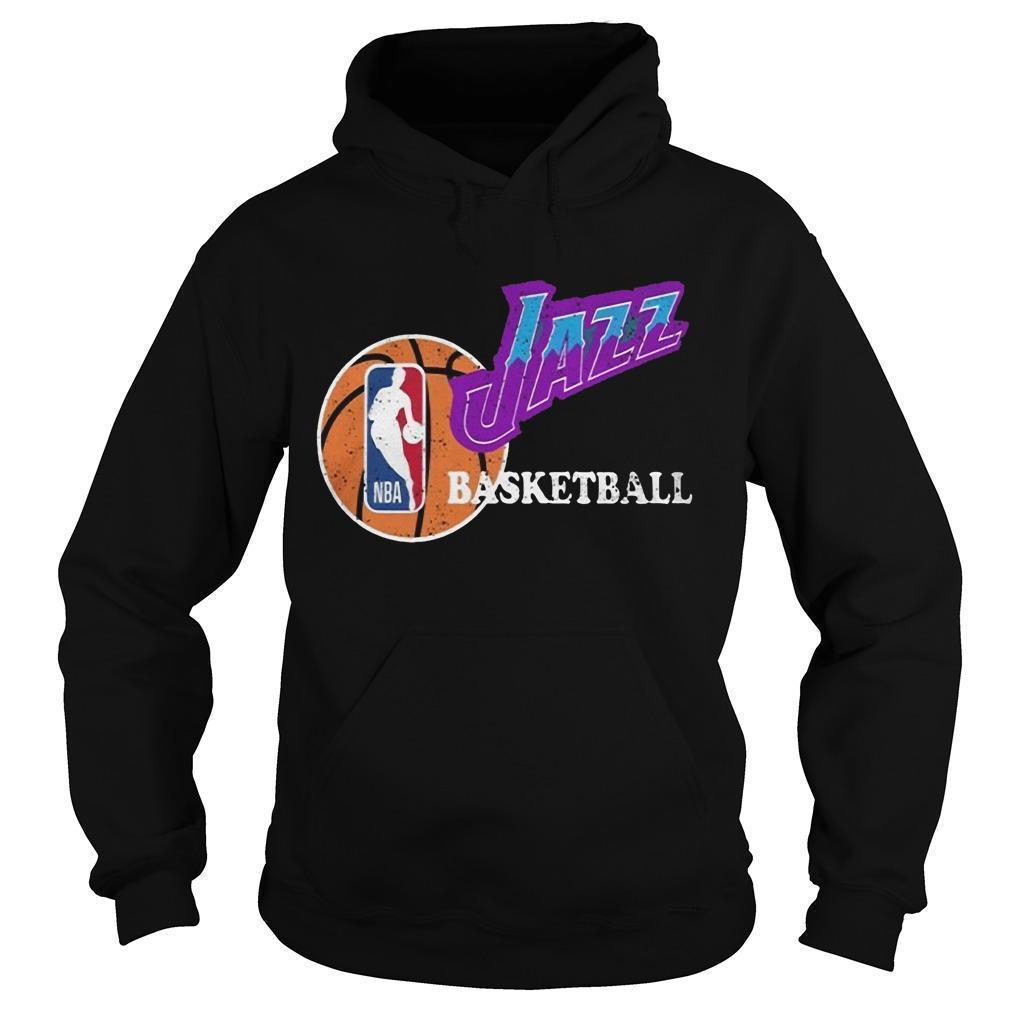 Vintage Jazz Basketball Nba Hoodie