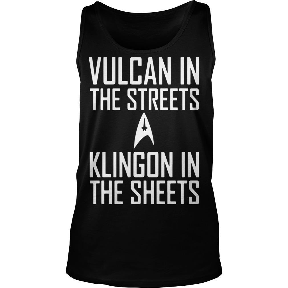 Vulcan In The Streets Klingon In The Sheets Tank Top