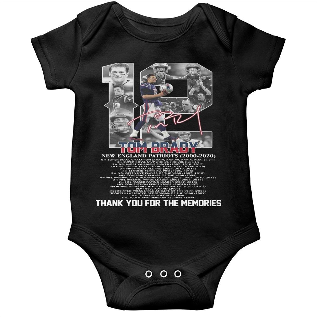 12 Tom Brady New England Patriots Thank You For The Memories Longsleeve