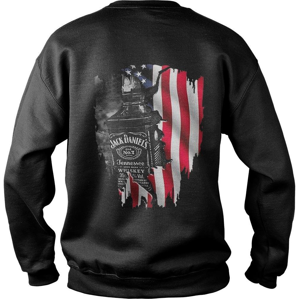 America Flag Jack Daniel's Old No 7 Tennessee Sweater