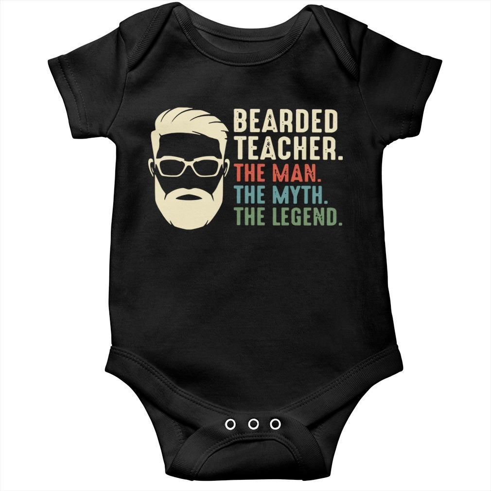Bearded Teacher The Man The Myth The Legend Longsleeve