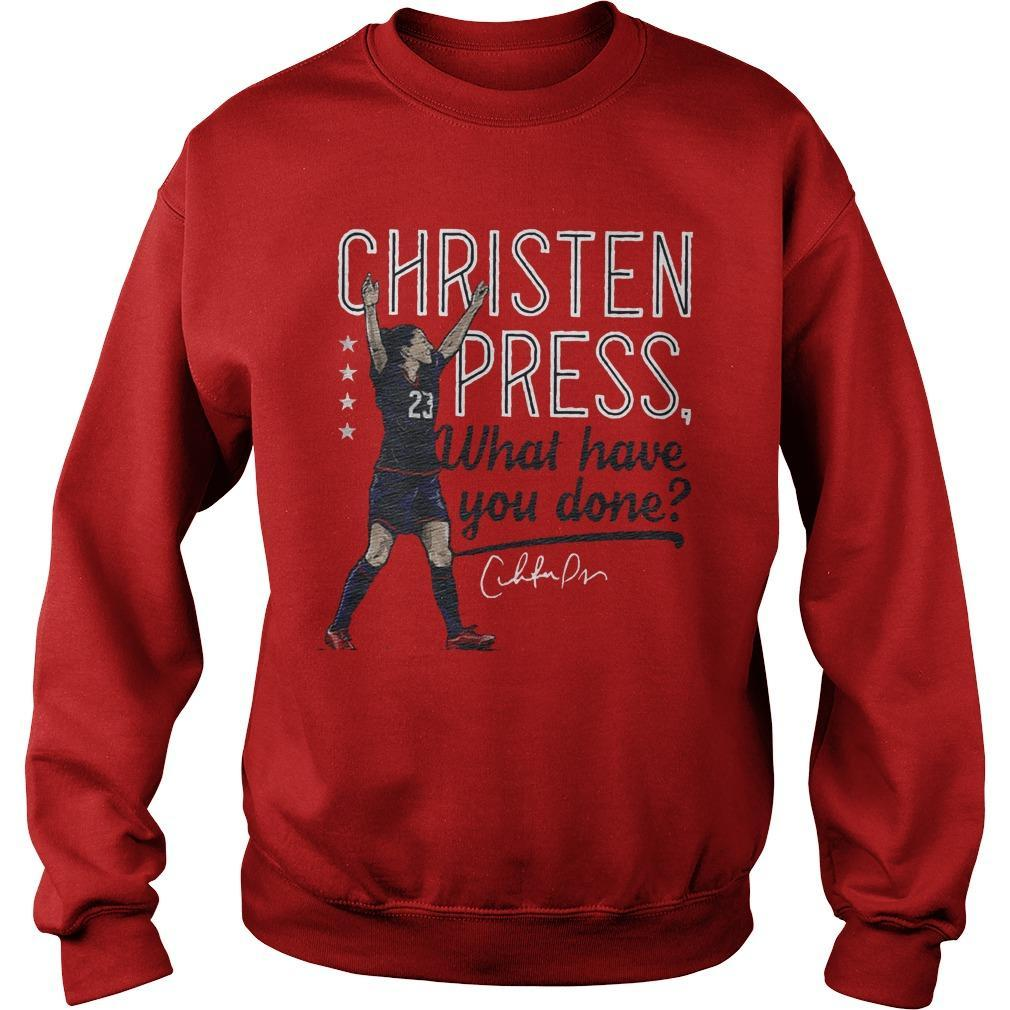 Christen Press What Have You Done Sweater