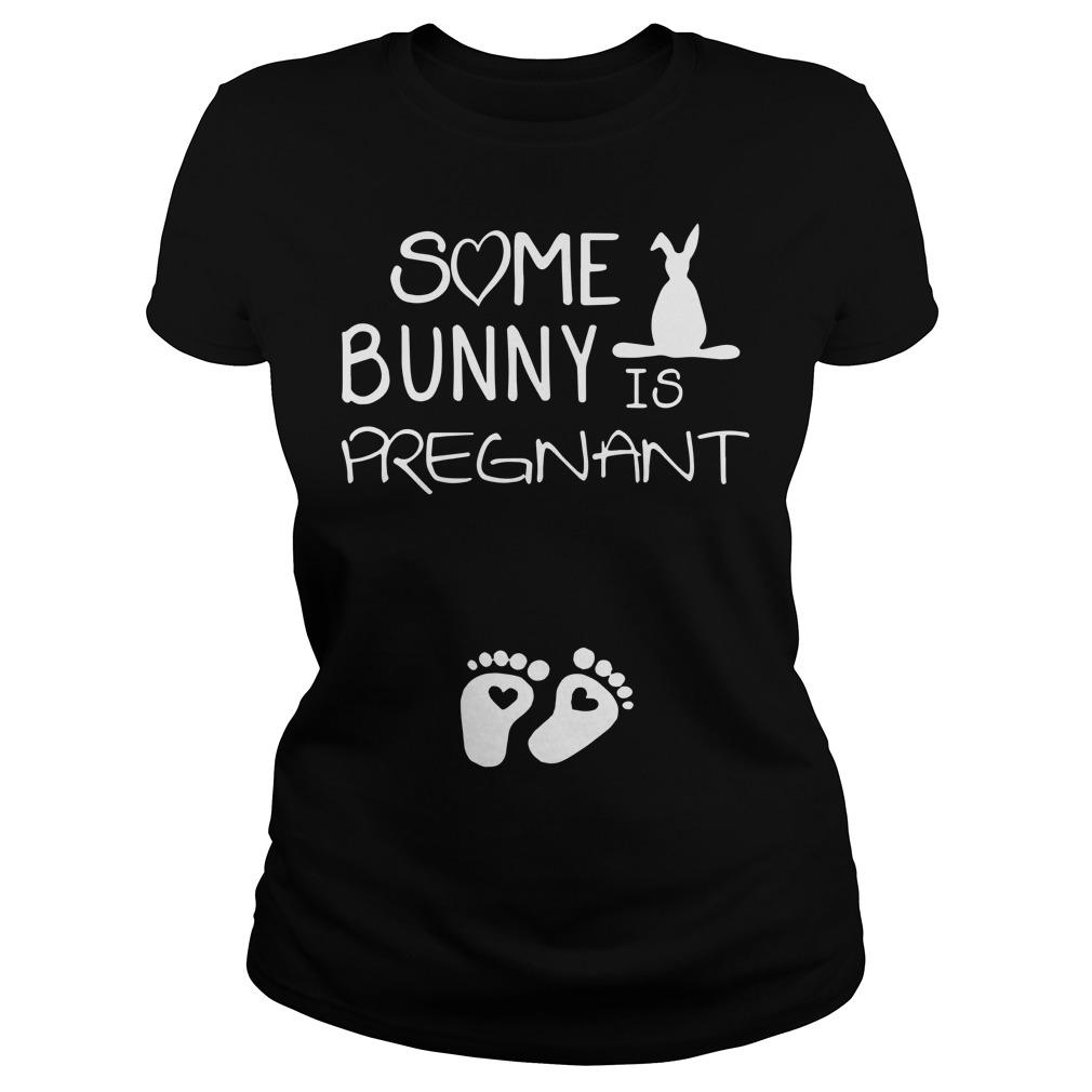 Footprint Some Bunny Is Pregnant Longsleeve