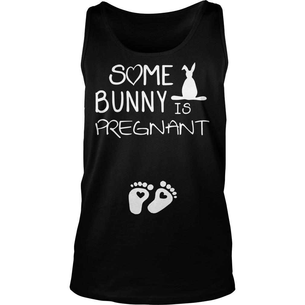 Footprint Some Bunny Is Pregnant Tank Top