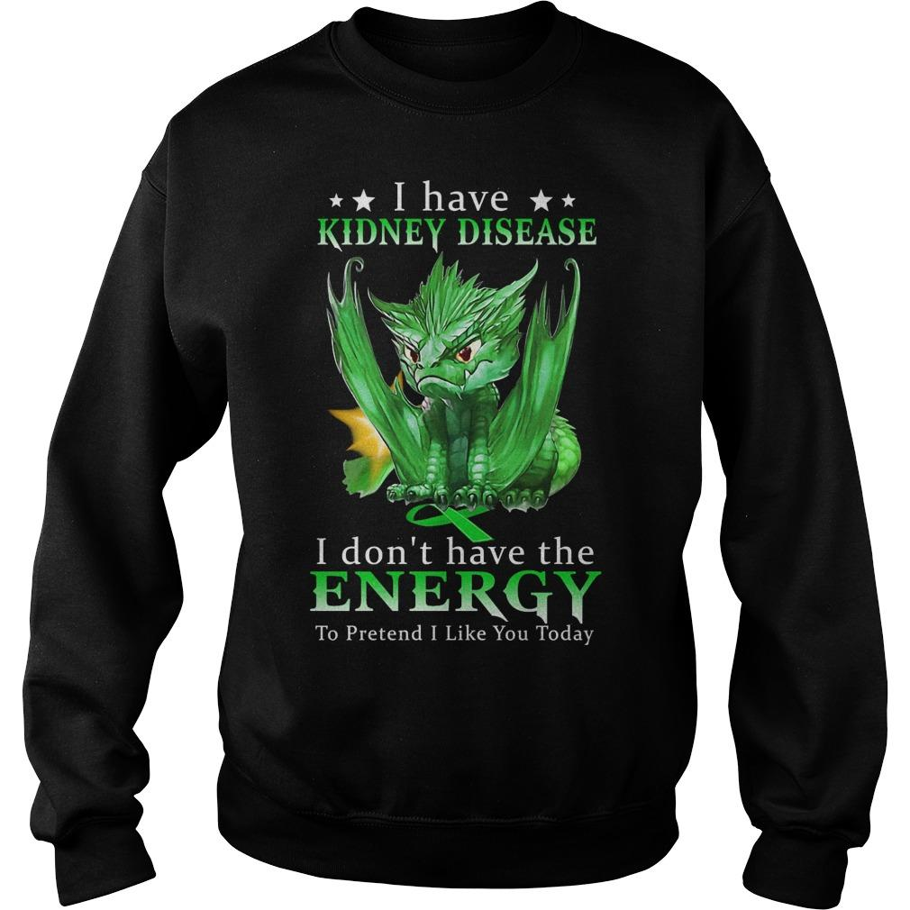 Green Dragon I Have Kidney Disease I Don't Have The Energy Sweater