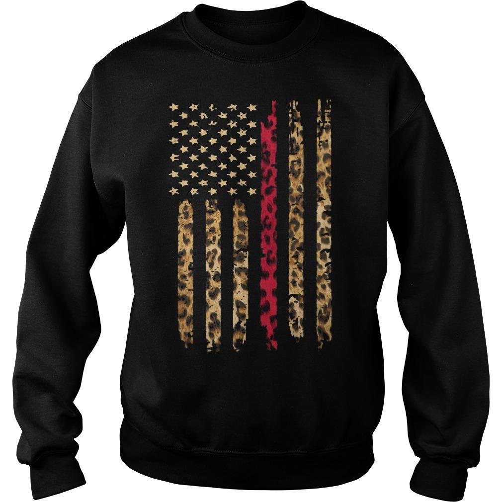 Leopard Red Line Sweater