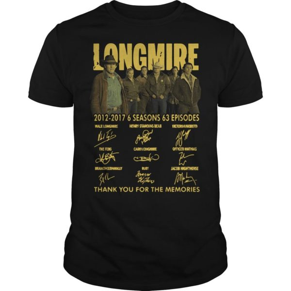 Longmire 2012 2017 6 Seasons 63 Episodes Shirt