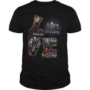 Love Megadeth Signatures Shirt