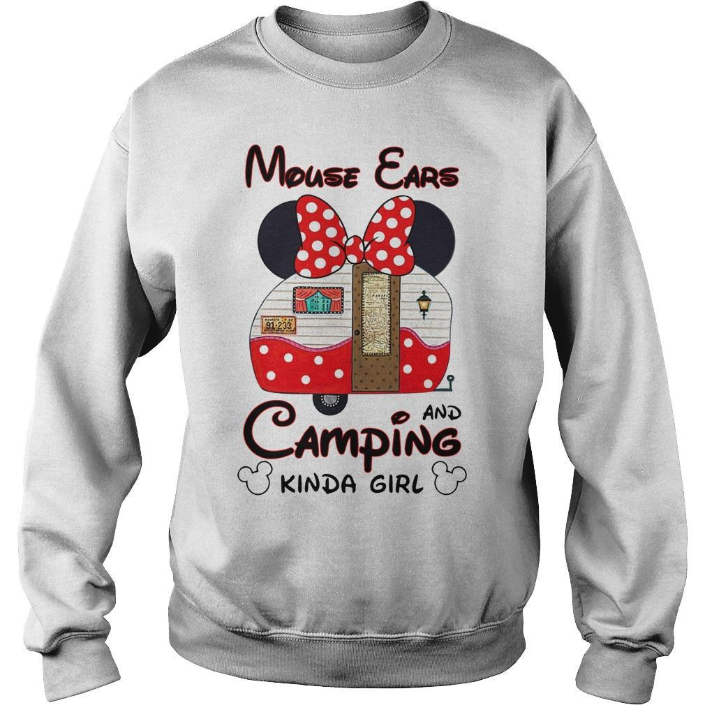 Minnie Mouse Ears And Camping Kinda Girl Sweater