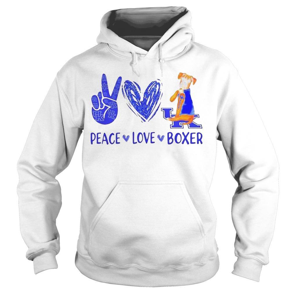 Peace Love Kentucky Uk Boxer Hoodie
