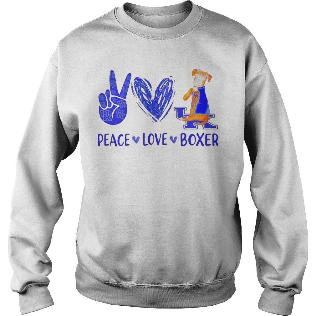 Peace Love Kentucky Uk Boxer Sweater