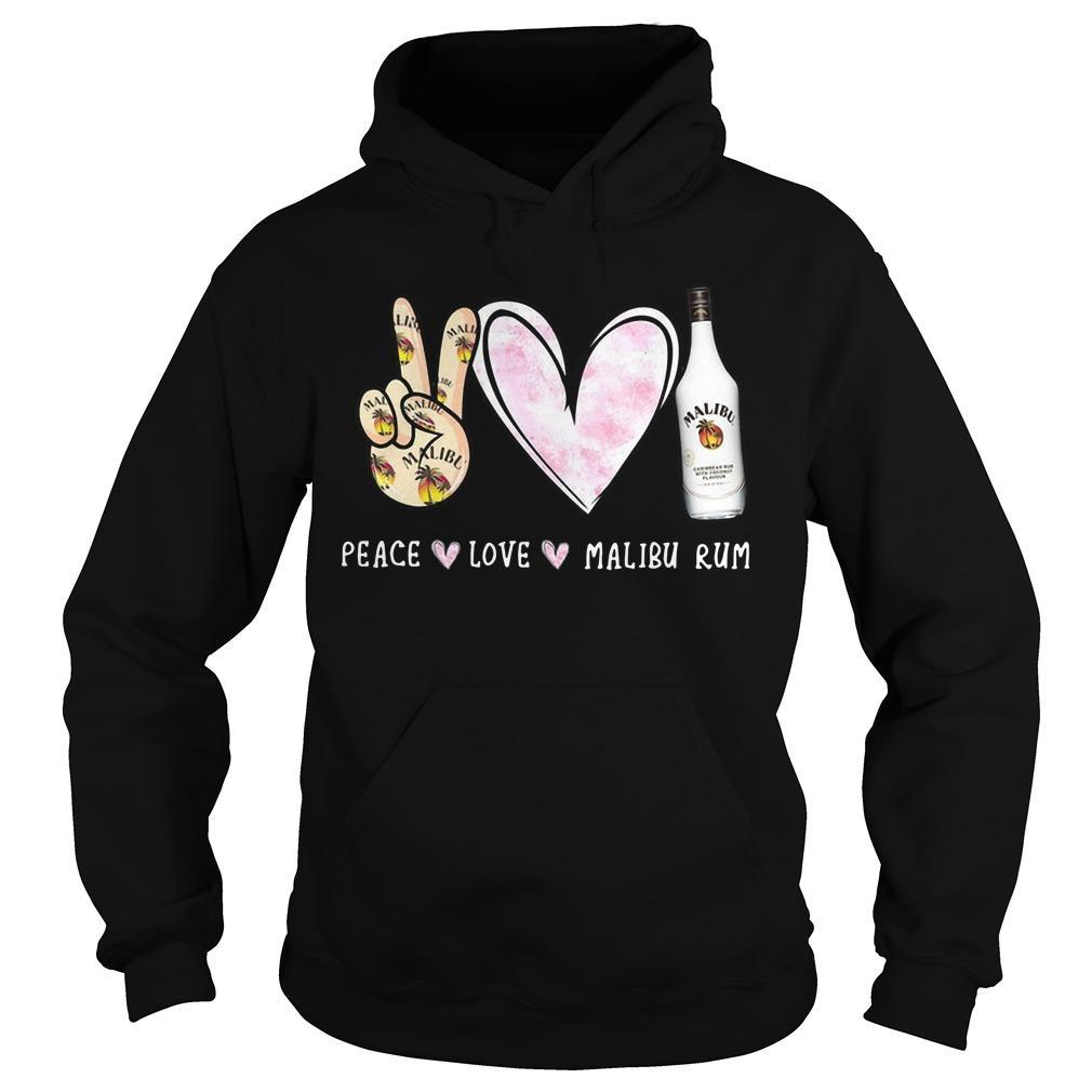 Peace Love Malibu Rum Hoodie