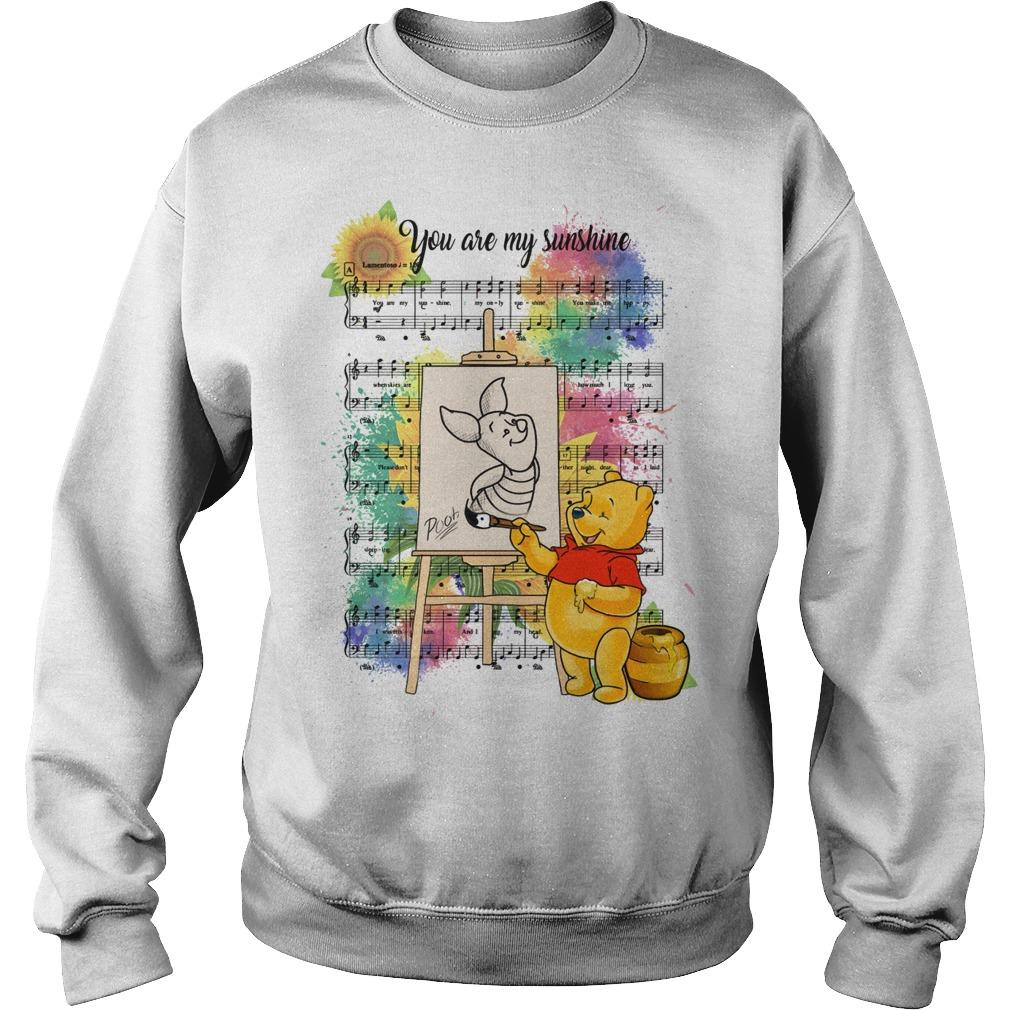 Pooh And Piglet You Are My Sunshine Music Sweater