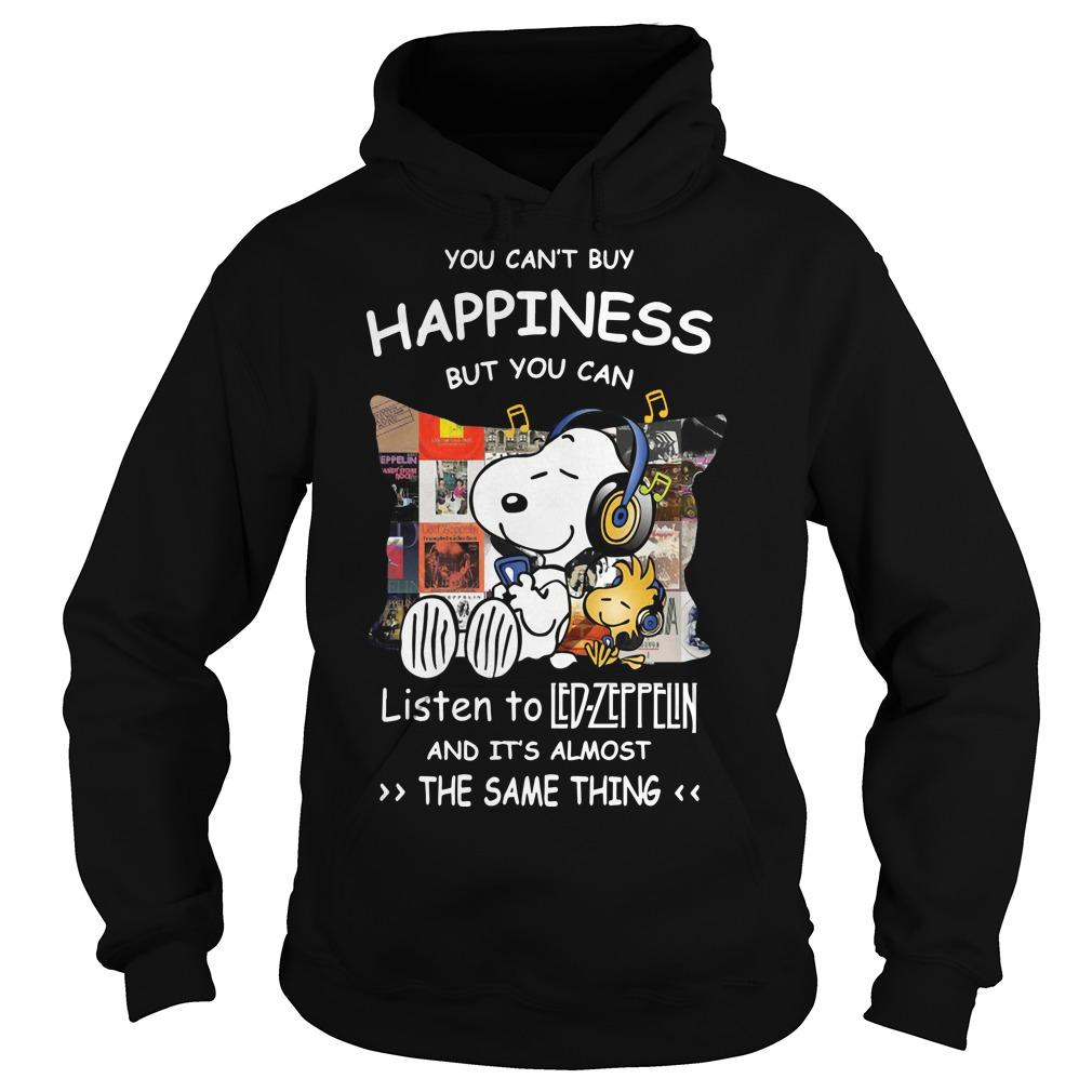 Snoopy You Can't Buy Happiness But You Can Listen To Led Zeppelin Hoodie