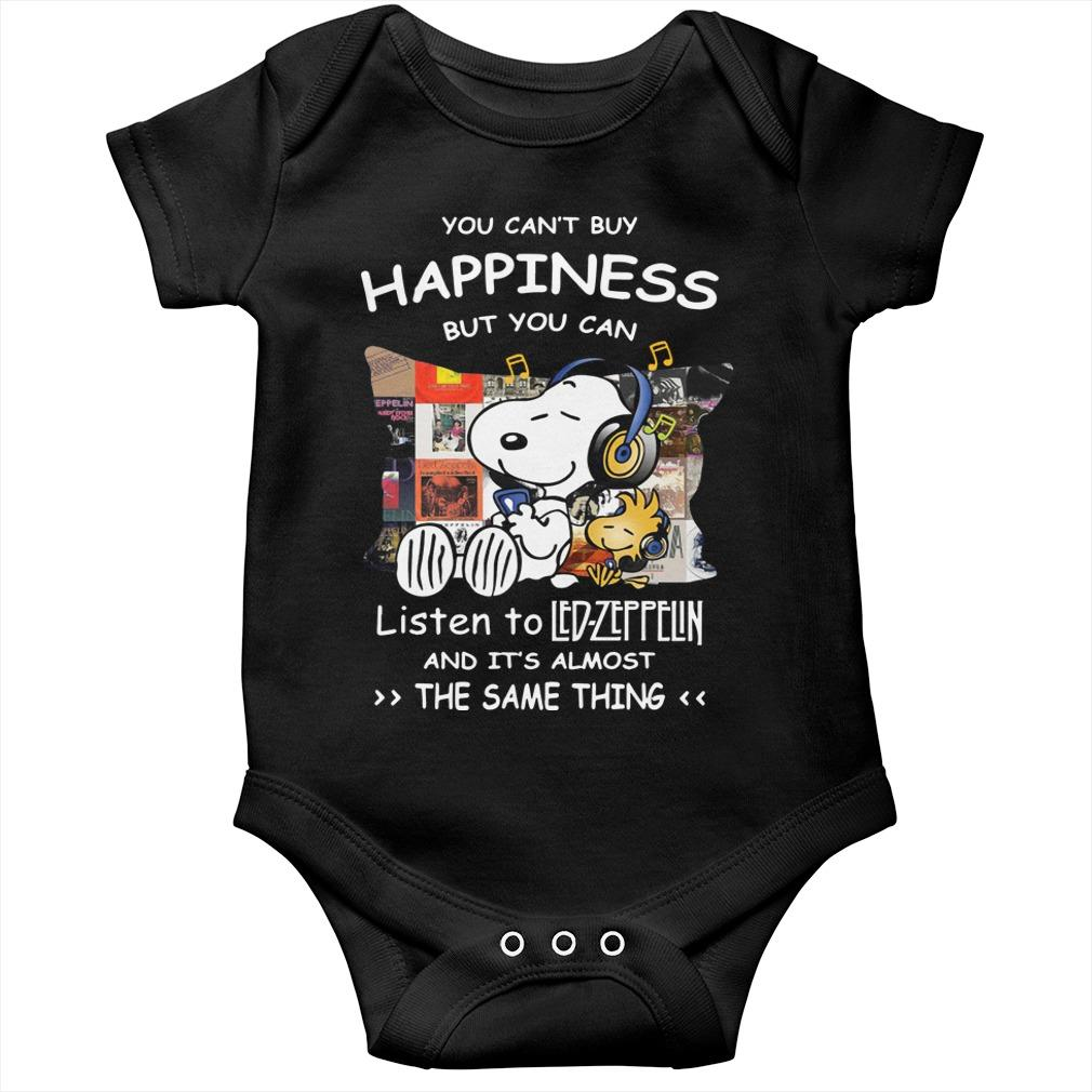 Snoopy You Can't Buy Happiness But You Can Listen To Led Zeppelin Longsleeve