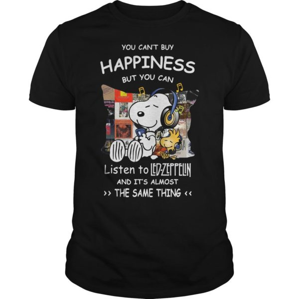 Snoopy You Can't Buy Happiness But You Can Listen To Led Zeppelin Shirt