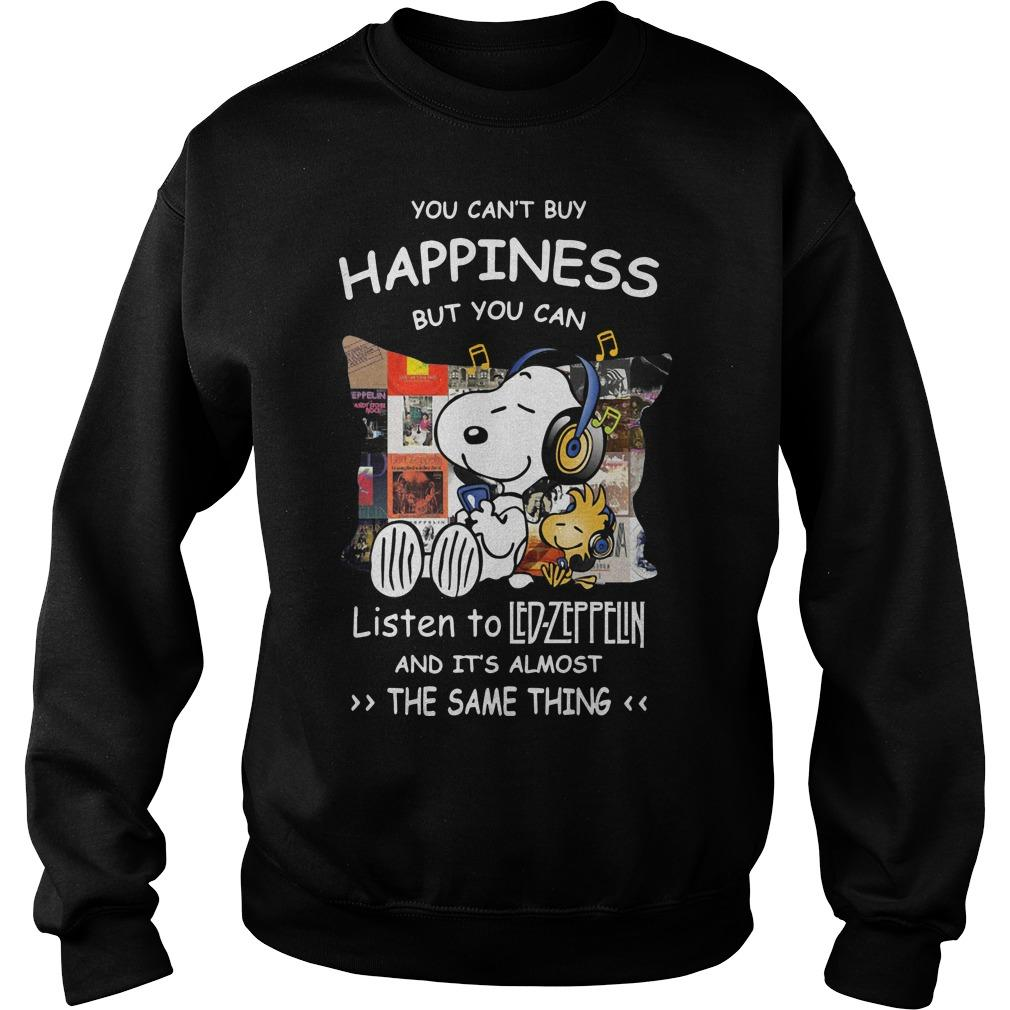 Snoopy You Can't Buy Happiness But You Can Listen To Led Zeppelin Sweater